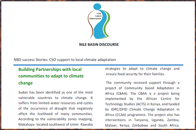 Building Partnerships with local communities to adapt to climate change - Sudan