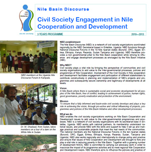 Civil Society Engagement in Nile Cooperation and Development