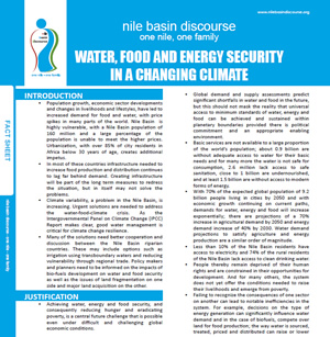 Water, Food and Energy Security in a Changing Climate