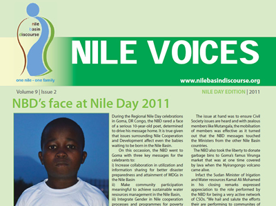 NBD's face at Nile Day 2011 - Nile Voices: Volume 9 | Issue 2