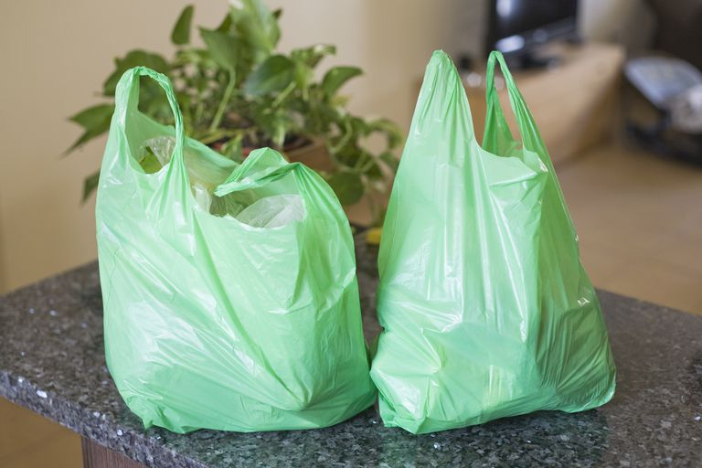 Typical nature of plastic bags (less than 5 microns) usually handed out at shops and supermarkets for packaging purposes